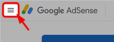 AdSenseのメニューボタンをクリック