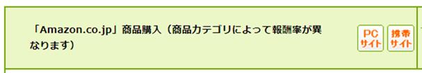 「Amazon.co.jp」商品購入(商品カテゴリによって報酬率が異なります)