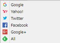 ブックマークのサイトアイコン表示例