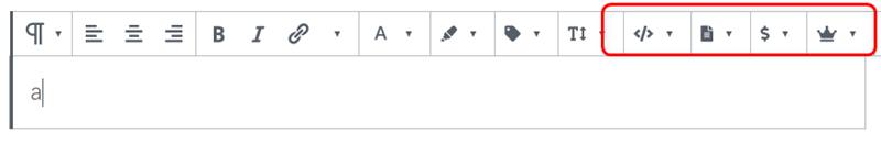 全てのドロップダウンツールボタンを表示